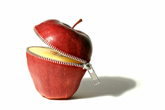 untitled (brescia, italy) (bloodybee) Tags: shadow red stilllife food white apple fruit cut eat zip stalk 365project