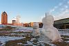 Three Snowmen (Phil Roeder) Tags: sculpture iowa desmoines desmoinesartcenter canon15mmf28 pappajohnsculpturepark