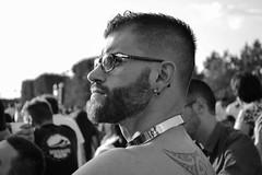 105.365 Charismatic. (magaly.frances) Tags: friends portrait man paris monochrome ink collier photography blackwhite photographie noiretblanc tatoo amis champsdemars barbe homme 14juillet tatouage ftenationale nikond5200 bwrpp