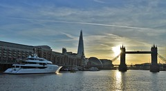 Vanish (11) @ Lower Pool 04-05-16 (AJBC_1) Tags: uk sunset england london towerbridge boat ship unitedkingdom landmarks vessel landmark riverthames motoryacht cityskyline vanish londonskyline nikond3200 superyacht luxuryyacht feadship lowerpool theshard dlrblog ajc shipsinpictures stgeorgesstairs