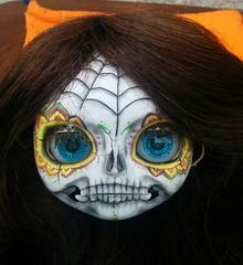 eyes (ink_heron) Tags: blythe calavera blythedoll blythecustom blytheskull blythecalavera