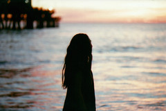 Beyond the horizon. (Ovrninthsnd) Tags: ocean santa sunset beach silhouette 35mm canon model waves ae1 relaxing peaceful monica program