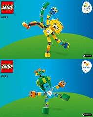 LEGO 40225 - Rio 2016 Olympic Mascots (www.giocovisione.com) Tags: lego mascot olympics olympicgames olympiad olympicmascot rio2016 rioolympicmascot