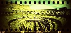 Colosseo 3 (Nicola Donato) Tags: rome roma lomo xpro lomography xprocess crossprocess toycamera wide panoramic colosseum rocket agfa vignetting agfaprecisa analogphotography plasticcamera colosseo sprocket plasticlens precisa ct100 sprocketrocket analogicait