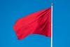 Rødt flagg mot blå himmel (Robin Lund) Tags: red flag banner communism flagg 1mai flagging fane rødt fridag kommunisme europavei6 arbeiderbevegelse flaggdag arbeidernesinternasjonalekampdag arbeidskamp arbeiderbanner arbeiderflagg demonstrasjonsdag kommunistflagg