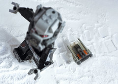 A really old movie (tomtommilton) Tags: old snow macro america movie starwars war funny lego mashup spiderman civil captain really marvel atat hoth snowspeeder antman toyphotography giantman