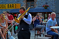 trumpet player among crowd (conormatthews) Tags: county ireland musician music dublin irish festival trumpet player kildare 2016 leixlip