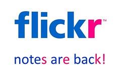 Flickr Notes Have Returned! (StarSaberSlash) Tags: back flickr thankyou notes returned