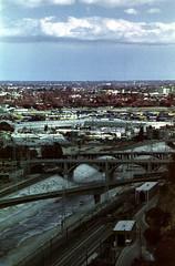 L.A. River (analoguefilm) Tags: film analog 35mm river losangeles minolta kodak infrared colorinfrared eir experimentalphotography aerochrome minoltasrtmc