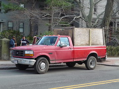 Ford F-250 (JLaw45) Tags: road street new red england urban usa ford up boston america truck work landscape state metro landscaping massachusetts united north newengland utility pickup business company domestic commercial area vehicle metropolis parked motor states pick mass northeast metropolitan beantown f250 nonimport