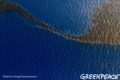 Shell Oil Design (Greenpeace USA 2016) Tags: ocean usa gulfofmexico louisiana ship gulf shell greenpeace aerial oil drilling skimming fossilfuel breakfree cleanenergy portfourchon