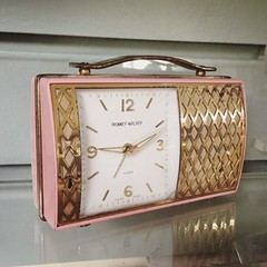 how about this adorable baby pink... (doodooFORyooyoo) Tags: vintage adorable clocks midcentury babypink uploaded:by=flickstagram instagram:venuename=aubrey27sclockgallery instagram:venue=195509160 instagram:photo=12386943367706865423975078