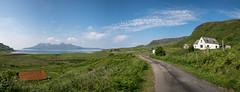 From Eigg to Rum (Strength) Tags: eigg rum scotland landscape smallisles island farmland farm road panorama remote countryside cleadale