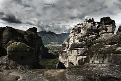 meteora Greece kalampaka  (CHAIDOULIS) Tags: rock landscape greece monastery meteora kalampaka