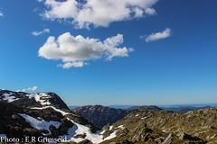 Gullfjellet (2000stargazer) Tags: blue light snow mountains norway clouds landscapes heaven view horizon bergen gullfjellet