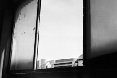 industrial view [analog] (__J) Tags: windows blackandwhite bw berlin film analog canon 50mm industrial view fenster scan scanned sw a1 analogue aussicht canona1 industrie neuklln canonfd50mm18 canonfd schwarzweis beiruth patchworx