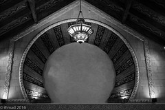 The Arch and the Light... (EHA73) Tags: leica nightphotography blackandwhite bw monochrome dubai uae shoppingcenter ibnbattoutamall leicamm aposummicronm1250asph typ246