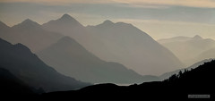 Mercurial mountains at dusk. (Scotland by NJC.) Tags: scotland alba caledonia  esccia  kotska skotsko skotland schotland skotlanti cosse schottland  scozia   skottland szkocja scoia   iskoya  mountains hills highlands peaks fells massif pinnacle ben munro heights  montanha  planina hora bjerg berg montaa vuori montagne  montagna fjell mist haze fog vapour shrouded veiled  nvoa  izmaglica mlha tge neblina usva brume leichter nebel  foschia   tke mgieka cea  dimma