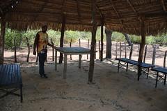 Na rea coberta de palha h um mesa fixa e bancos  111 (vandevoern) Tags: brasil piaui encontro eremitrio orao trindade meditao floriano vandevoern landrisales