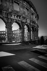 Pula Arena (pietkagab) Tags: pula arena colosseum roman ruins bw europe croatia istra pietkagab piotrgaborek photography pentax pentaxk5ii travel trip architecture sightseeing