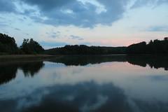 Otomin Lake, Kaszuby (Pomorze), Poland (LeszekZadlo) Tags: blue trees sunset sky naturaleza lake nature water clouds landscape natureza poland polska paisaje polen landschaft polonia pomerania pommern pologne kaszuby pomorze pejza