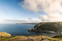 a good day to travel in Newfoundland (tuanland) Tags: ocean travel sunset sea summer sky cloud mountain seascape canada trek newfoundland landscape evening nikon hill stjohns hike explore destination signalhill nfld atlanticcanada capespear d600 avalonpeninsula newfoundlandandlabrador nikond600