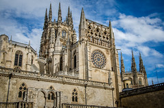 Cathedral of St Mary of Burgos (DingoShoes - life's a dream) Tags: travel blue sky holiday architecture clouds spain cathedral quote gothic wanderlust explore burgos ilovephotography burgoscathedral travelphotography ilovespain traveldestination sirrichardburton afsnikkor18105mm13556ged nikond7000 september2015 cathedralofstmaryofburgos