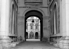 Greenwich University (phoebe.horner) Tags: park trees people white black colour tree monochrome fence landscape photography landscapes photo photographer view edited greenwich royal parks fences squirrell cutty sark