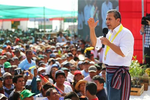 Presidente Ollanta Humala celebró Día del Agricultor en Cruceta, distrito de Tambogrande, región Piura.