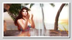 poolside 3 (Shylah Oceanlane) Tags: summer woman sexy water pool avatar sl bikini secondlife
