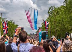 Royal Flyover (James Neeley) Tags: london flyover redarrows troopingthecolour jamesneeley