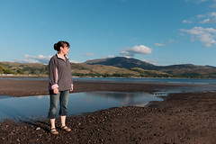 Susie on Glenelg Beach (Ian_Boys) Tags: beach scotland fuji susie fujifilm glenelg 2016 x100t