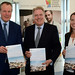 Conor alongside Tourism Minister, David Evennett MP, and NCTA Director, Samantha Richardson.