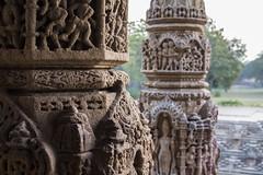 the light has come (Tin-Tin Azure) Tags: morning light sun india detail reflection sunrise temple early ruins column repeat gujarat modhera