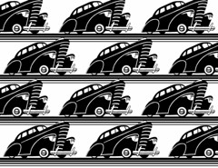 Limo fleet (Don Moyer) Tags: auto moleskine car ink notebook automobile pattern drawing vehicle moyer brushpen donmoyer