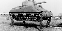 An inflated tank used to deceive the enemy used by the U.S. Army in World War 2 (circa 1945) [720378] #HistoryPorn #history #retro http://ift.tt/1sJi444 (Histolines) Tags: world 2 history by army us war tank an retro used timeline circa 1945 enemy deceive inflated vinatage historyporn histolines 720378 httpifttt1sji444