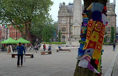 Preston tree gets woollen jacket (Tony Worrall Foto) Tags: county uk england people tree wool colors truck square fun stream tour open place northwest unitedkingdom candid country north visit location lancashire cover covered area preston colourful cenotaph northern update attraction woollen lancs flagmarket welovethenorth