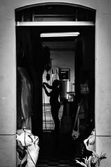 Craftswoman / Artesana (Adelobra01) Tags: urban silhouette cali calle nikon colombia shadows streetphotography bn urbano silueta sombras cotidianidad