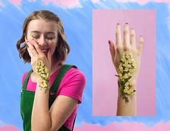 Flower Child (savana ogburn) Tags: selfportrait floral leaves mixed media rookie paintedphoto savanaogburn