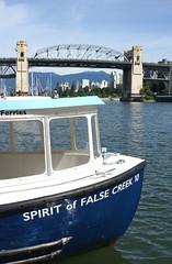 SPIRIT of FALSE CREEK (leuntje) Tags: falsecreekferries vancouver canada granvilleisland falsecreek spiritoffalsecreek ferry burrardbridge burrardstreetbridge bridge ferrydock bc britishcolumbia
