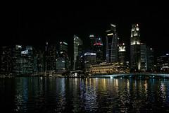 not gotham city (Roger Foo) Tags: night singapore cityscape waterfront marinabay