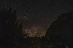 Milkyway over Yosemite (Zrave) Tags: park trees sky mountains nature night way stars fuji nightscape astro wanderlust galaxy national astrophotography yosemite 12mm wilderness milky milkyway samyang rokinon xpro2
