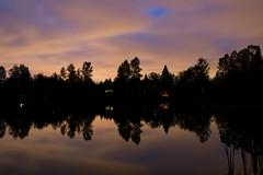 Night time (roberts.alex37) Tags: sky lake canada reflection water night bc bright coquitlam coquitlamlake