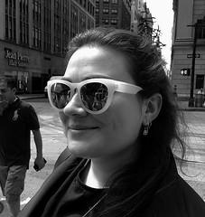 Dana (Robert Borden) Tags: street nyc newyorkcity portrait ny newyork sunglasses fashion outside outdoors manhattan streetphotography dana streetphoto deerdana deerdanacom