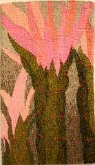handwoven tapestry (wmpe2000) Tags: pink green art daytrip tapestry artexhibit handwoven 2016 tohonochulpark daytriptohonochulpark lynhart ceresly