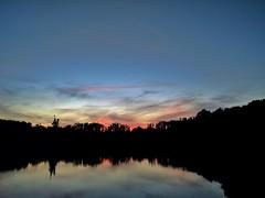 2016-06-19_07-26-55 (Morgan.D88) Tags: park trees sunset sky cloud lake color reflection water colors clouds reflections virginia pond dusk richmond loch rva lothian lochlothian