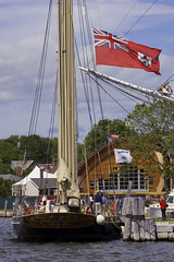 The Spirit Of Bermuda In Mystic (joegeraci364) Tags: new travel summer vacation england sky cloud seascape color art beach water weather museum season relax landscape fun outdoors coast boat ship connecticut small scenic craft shore boating sail destination leisure serene nautical tallship schooner trap mystic seaport