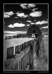Barn along highway 21, Wheatland County, Alberta (kgogrady) Tags: canada barn landscape spring nikon afternoon alberta infrared d80