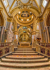 Montecassino Abbey (Riccardo Malorni - The Light Hunter) Tags: travel italy church abbey cemetery saint architecture stairs golden ancient perfect war cityscape view cathedral awesome monk indoor panoramic symmetry christian altar holy column marble hdr norcia frosinone montecassino benedict nursia