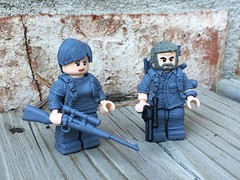 Joel and Ellie ----The Last of Us (pecovam) Tags: brick last us lego the of afflicition pecovam